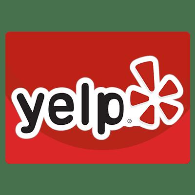 Yelp advertising services logo.